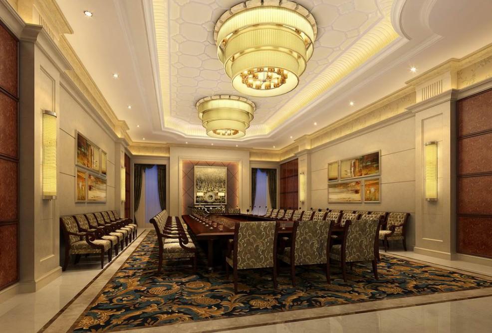 欧式风格装修会议厅图片